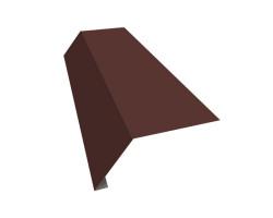 М.черепица Карнизная планка коричневая (RAL 8017) 2 м