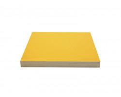 Желтая ламинированная фанера толщиной 24мм размером 2500х1250, сорт 1/1