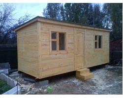 Бытовка распашонка деревянная с перегородками 2,3х6000